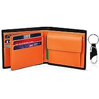 TEEHON Cartera Hombre, Cartera RFID, Cartera Cuero Hombre con 10 Tarjetas (Incluye 1 ID), 2 Compartimentos para Billetes…