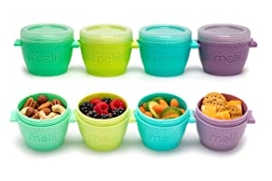 melii Snap & Go Baby Food Freezer Containers & Snack Containers, 4oz/118ml, 4 Pack