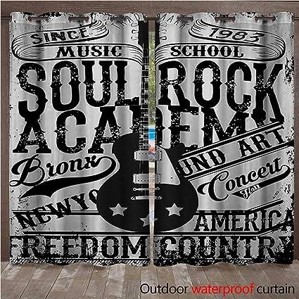 Amazon com : Retro Door/Gazebo Curtain Soul Rock Academy