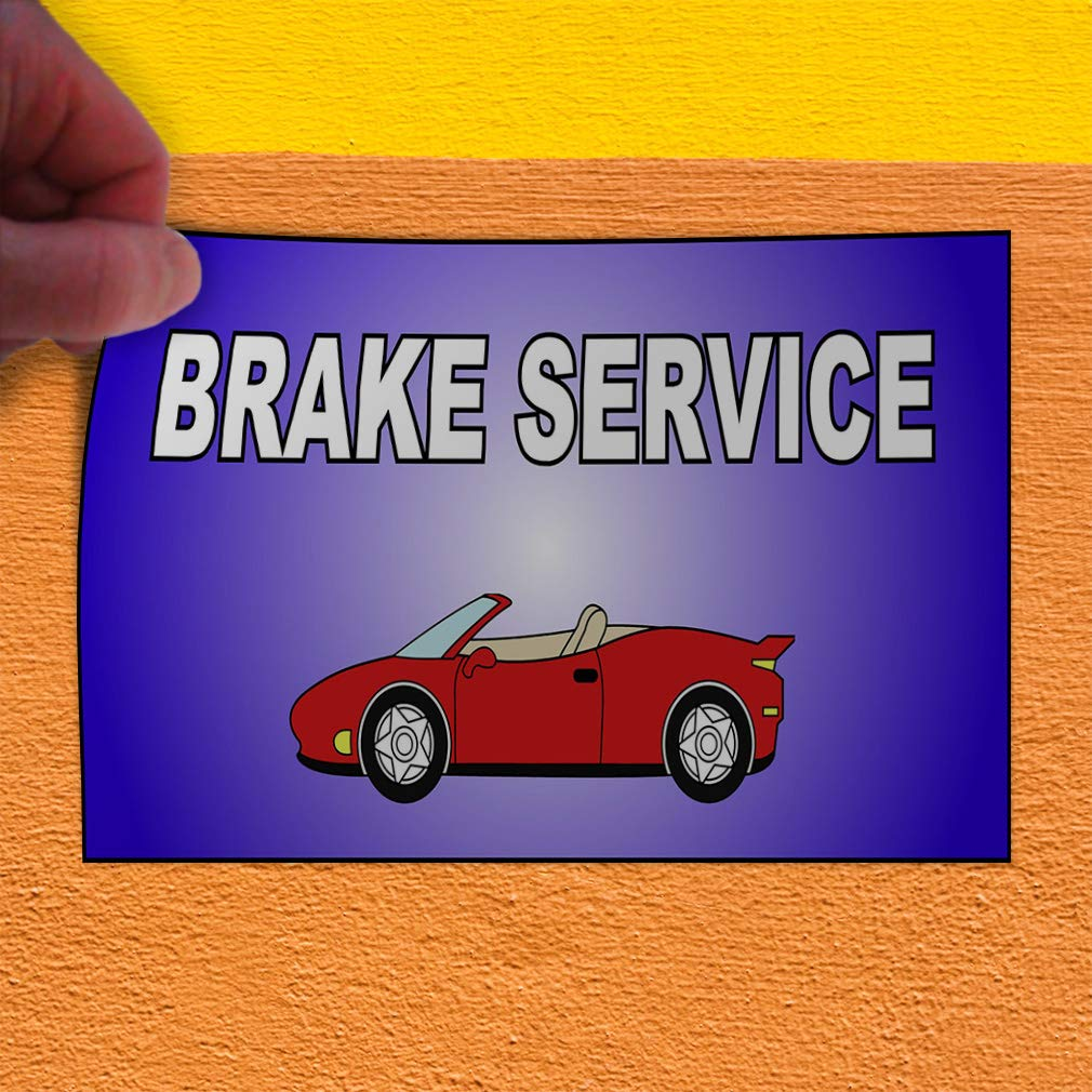 Decal Sticker Multiple Sizes Brake Service Violet Red Automotive Brake Services Outdoor Store Sign Purple 14inx10in Set of 10