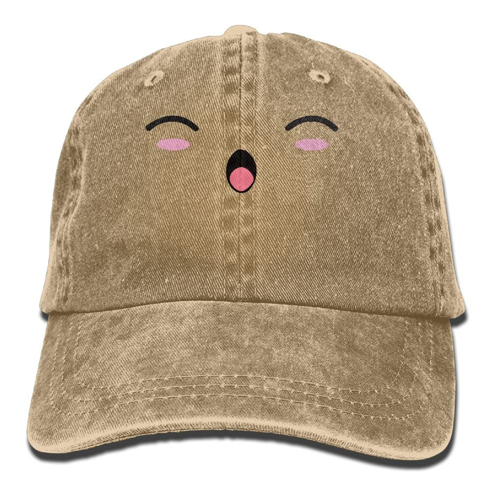 XZFQW Kawii Happy Smile Trend Printing Cowboy Hat Fashion Baseball Cap For Men and Women Black