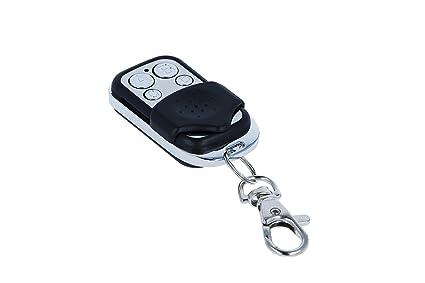 HD-LINE 433 MHZ - Mando por control remoto universal para puerta de garaje (alarma, 4 botones)