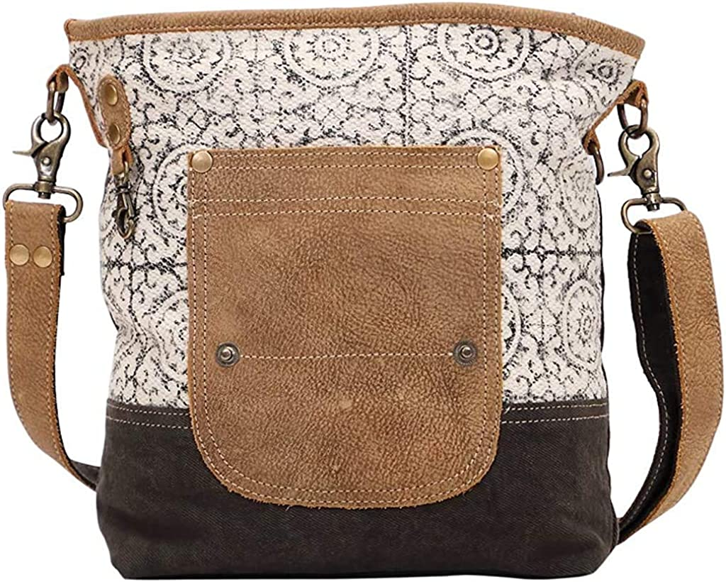 Amazon Com Myra Bag Pivot Upcycled Canvas Leather Shoulder Bag S 1445 Shoes These are some of the bestrange bags on amazon we found so far:✅1. myra bag pivot upcycled canvas leather shoulder bag s 1445