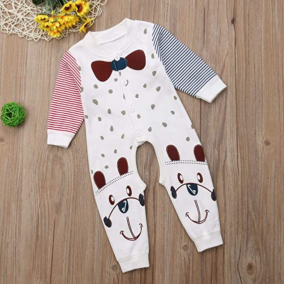 ❤ 3-18M Mameluco para el bebé, bebés recién Nacidos niñas Traje de la Raya del Estampado de Mameluco del Mono Conjunto de Trajes Absolute: Amazon.es: ...