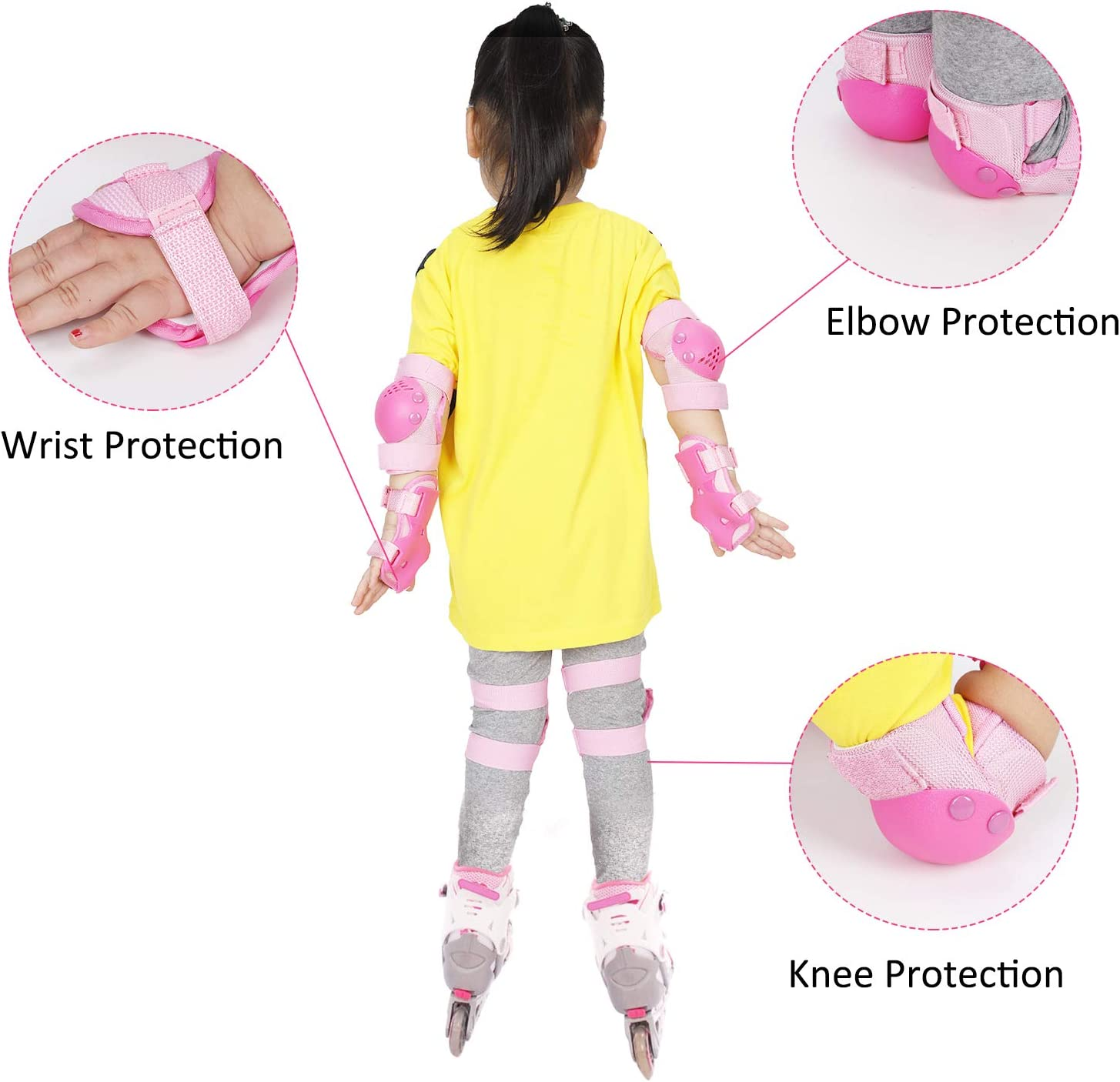 G-Fiend Kids Knee Pads Elbow Pads Wrist Pads Protective Gear for Inline Skating Cycling Scooters Skateboarding Outdoor Sports