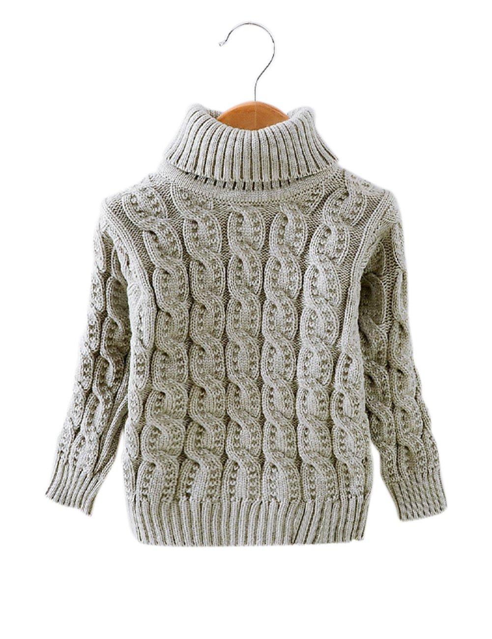 Bébé garçon fille torsion fleur motif laine pull tricoté pull sous la chemise vêtements