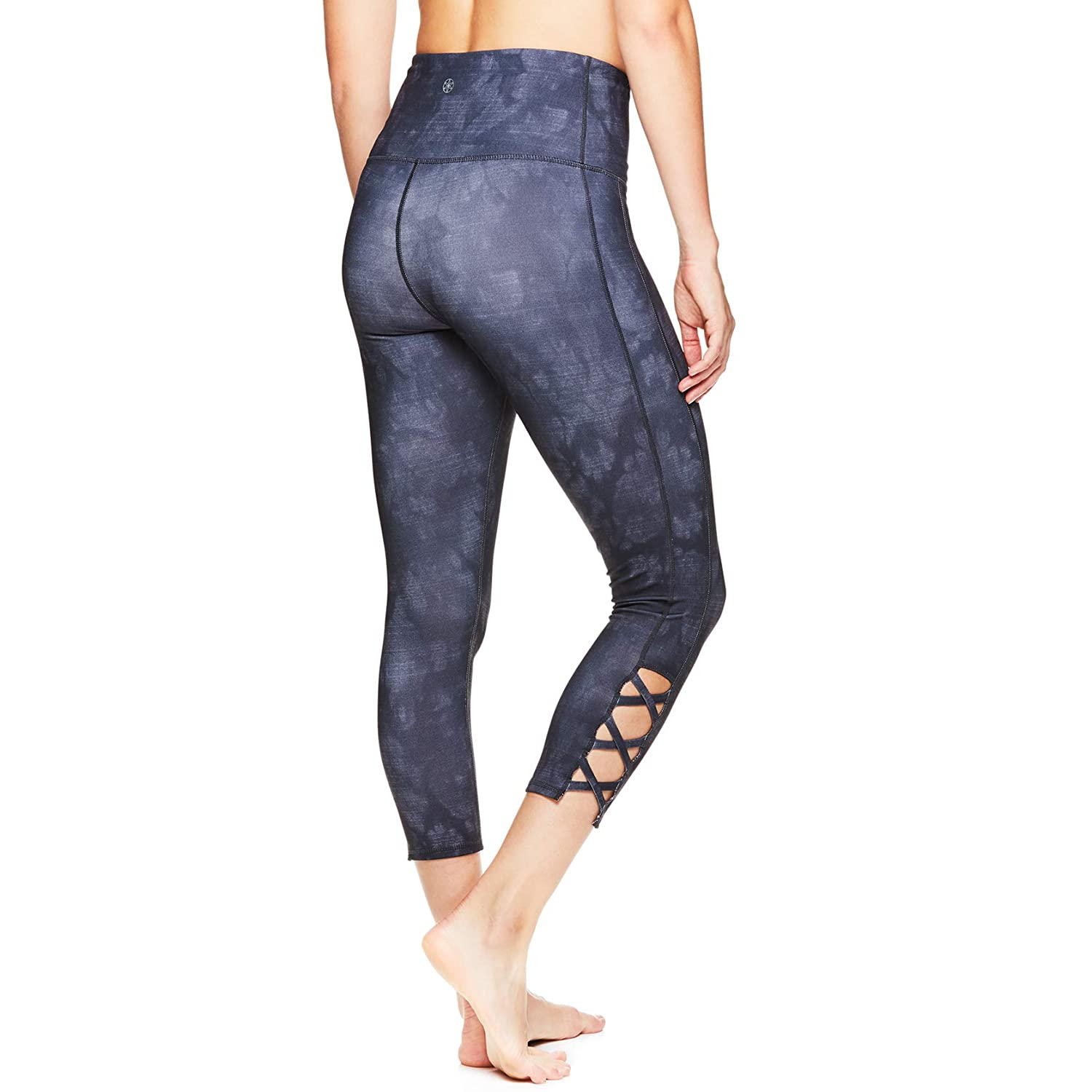 8e3af622db6e Amazon.com  Gaiam Women s High Rise Waist Capri Yoga Pants - Performance  Spandex Compression Leggings  Clothing