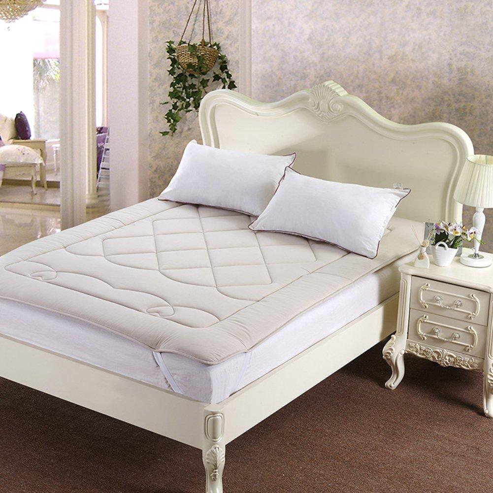 DHWJ WCCT Cotton health mattress,Thickened tatami mattress,Non-slip bed mat-A 180x220cm(71x87inch)