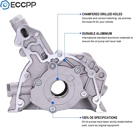 ECCPP Engine Oil Pump Fit for 2004-2008 for Chevy Aveo Compatible with M275 Pump