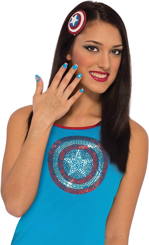 COOLMP – Juego de 12 – Kit de Maquillaje Capitán América para Mujer – Talla única – Maquillaje de Fiesta, Pelo, Piel, Labios, Ojos, Carnaval, Fiesta de Disfraces, cumpleaños,: Amazon.es: Juguetes y juegos