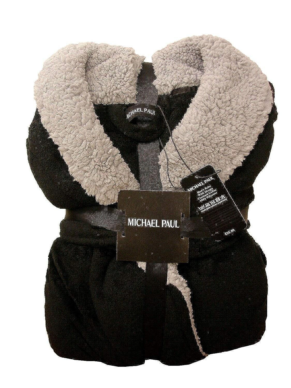 de suave forro polar Bata de lujo de Michael Paul para hombre