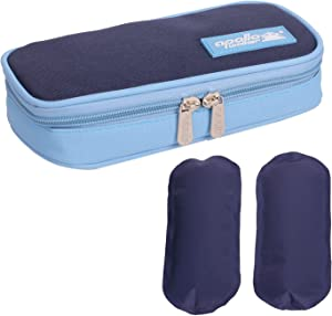 CREATOR Insulin Cooler Carrying Case, Diabetic Medication Organzier with 2 Ice Packs for Diabetic Supplies, Medicine, Pen, Vial Supply