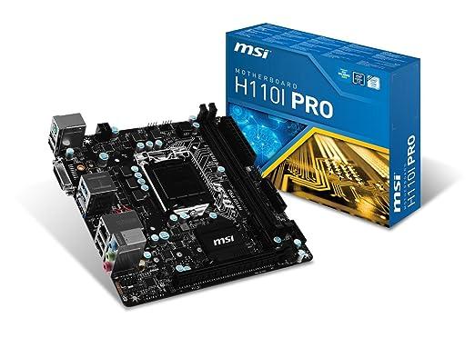 8 opinioni per Msi H110I Pro Mini Scheda Madre, Nero