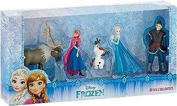 zdfgv 5 Pezzi Disney Frozen Anna Elsa Kristoff Sven Olaf Action PVC Figure Modello Collezione di Bambole Regalo di Compleanno Bambini 5-10 cm