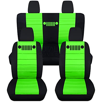 Fantastic Totally Covers Fits 2011 2018 Jeep Wrangler Jk Seat Covers Black Lime Green Full Set Front Rear 23 Colors 2012 2013 2014 2015 2016 2017 Cjindustries Chair Design For Home Cjindustriesco