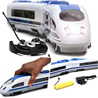Wembley Toys High Speed Remote Controlled Real Looking Bullet Train with LED Flash Light and Rechargeable Battery (Blue)