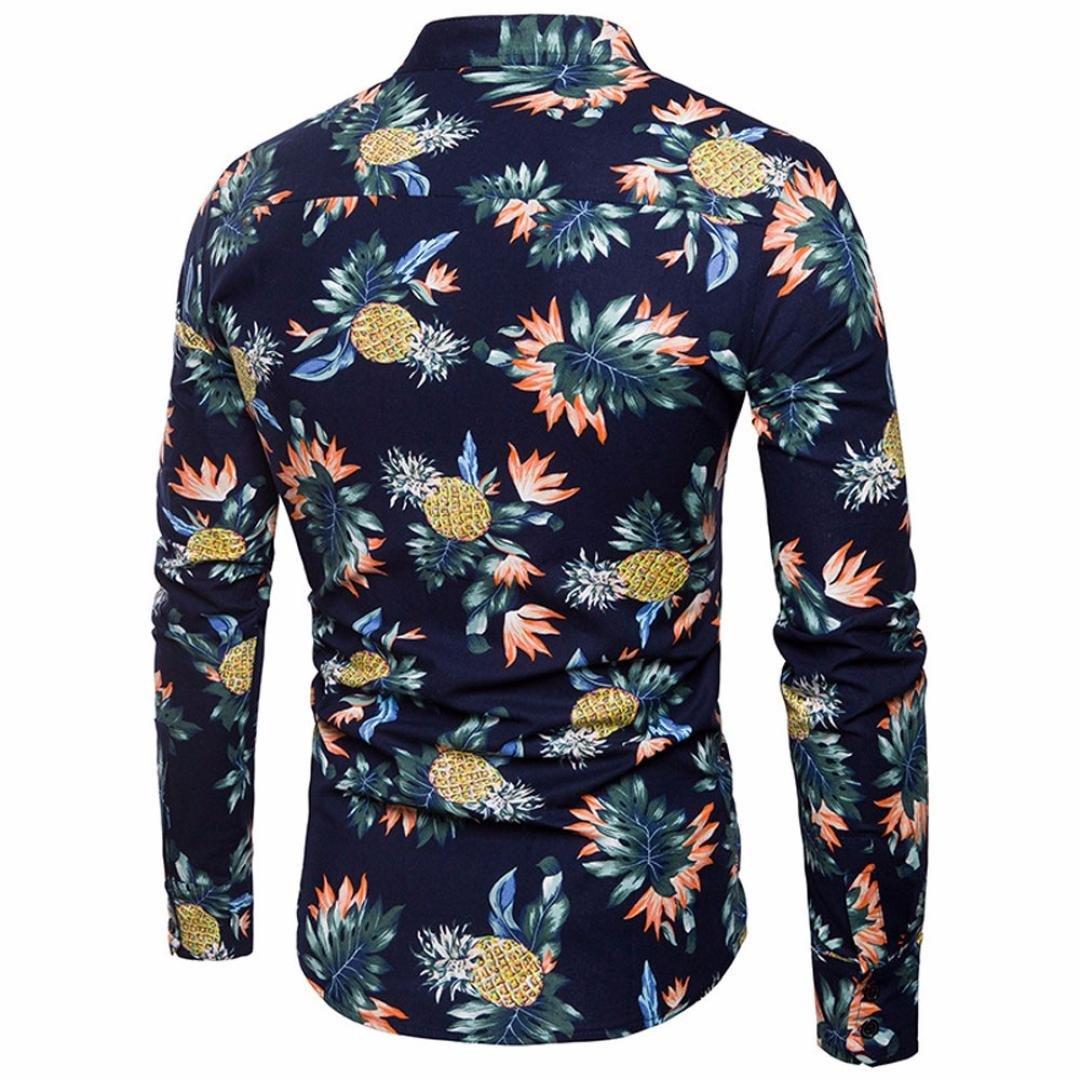 Camisas Hawaianas Hombre, Camisa de los Hombres Impreso Slim Fit Camisas de Manga Larga Informal botón Formal Tops Blusa: Amazon.es: Ropa y accesorios