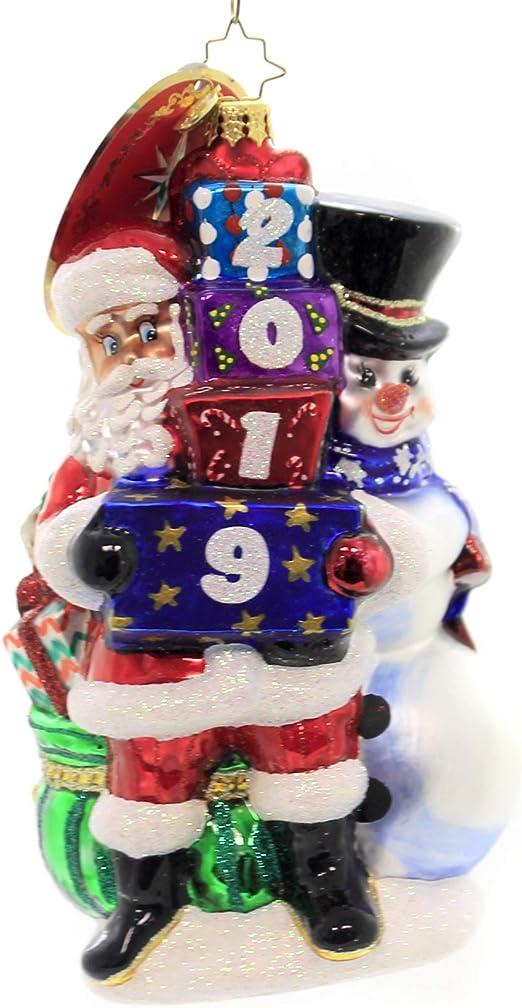 Christopher Radko Quadruple The Frosty Fun in 2019 Christmas Ornament White