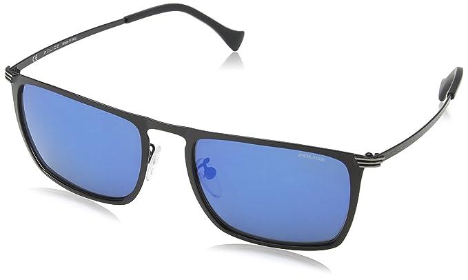 b61d3b191e Police SPL155 599B Matte Black Rival 8 Rectangle Sunglasses Lens Category 3  Len