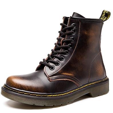 SITAILE Unisex-Erwachsene Bootsschuhe Derby Schnürhalbschuhe Kurzschaft Stiefel Winter Boots für Herren Damen Rot EU41 kUNZxyh