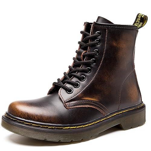 3b44436b36291e SITAILE Unisex-Erwachsene Bootsschuhe Derby Schnürhalbschuhe Kurzschaft  Stiefel Winter Boots für Herren Damen Gefüttert Braun