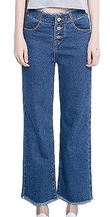 HX fashion Pantalón Boyfriend Jeans para Mujer Pantalones ...