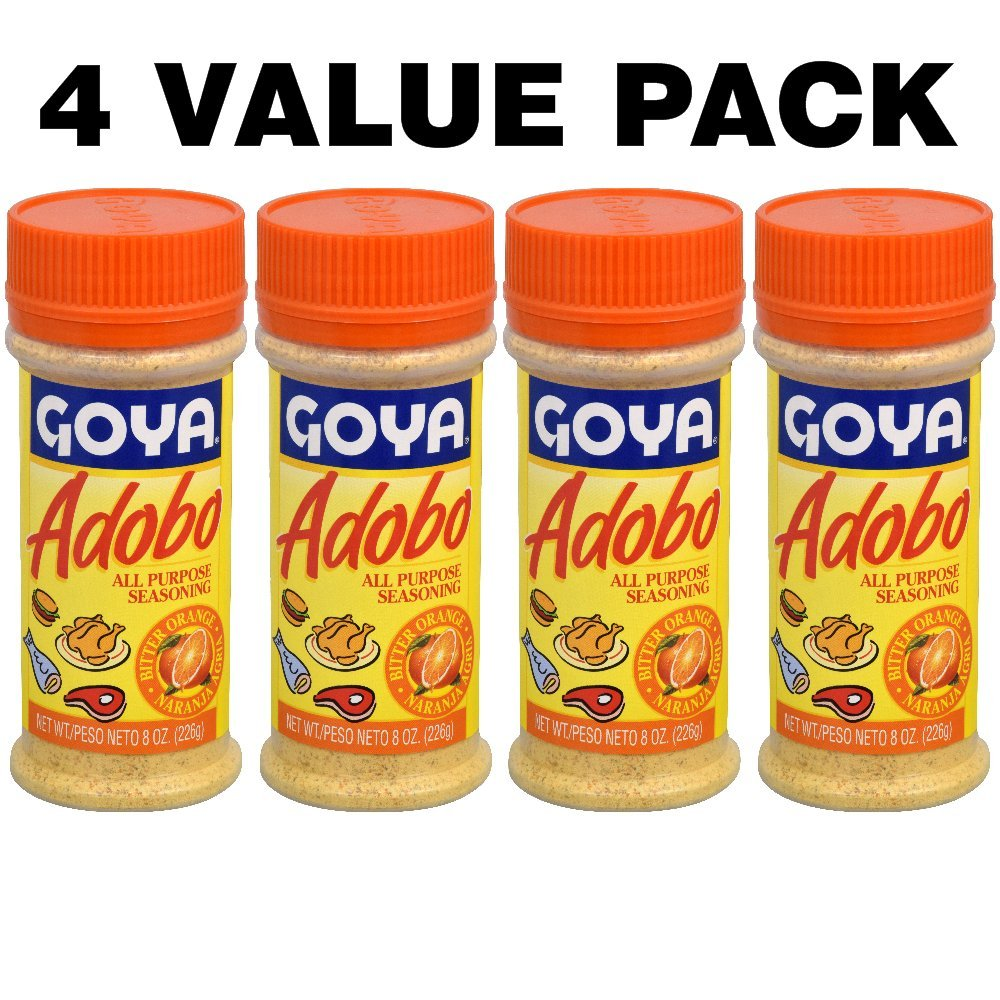 Goya Adobo All Purpose Seasoning, Bitter Orange, 8 Oz (4 VALUE PACK)