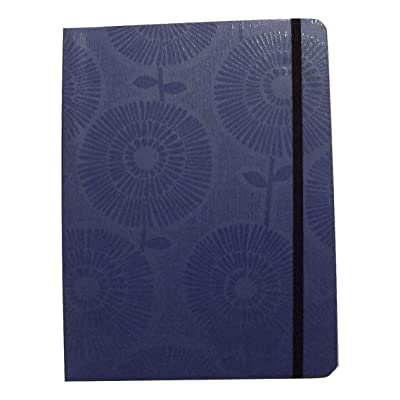 """Studio C Carolina Pad Narrow Ruled Textured Cover Notebook ~ She Means Business (Blue Floral; 6"""" x 8""""; 100 Sheets, 200 Pages; Elastic Closure): Toys & Games"""