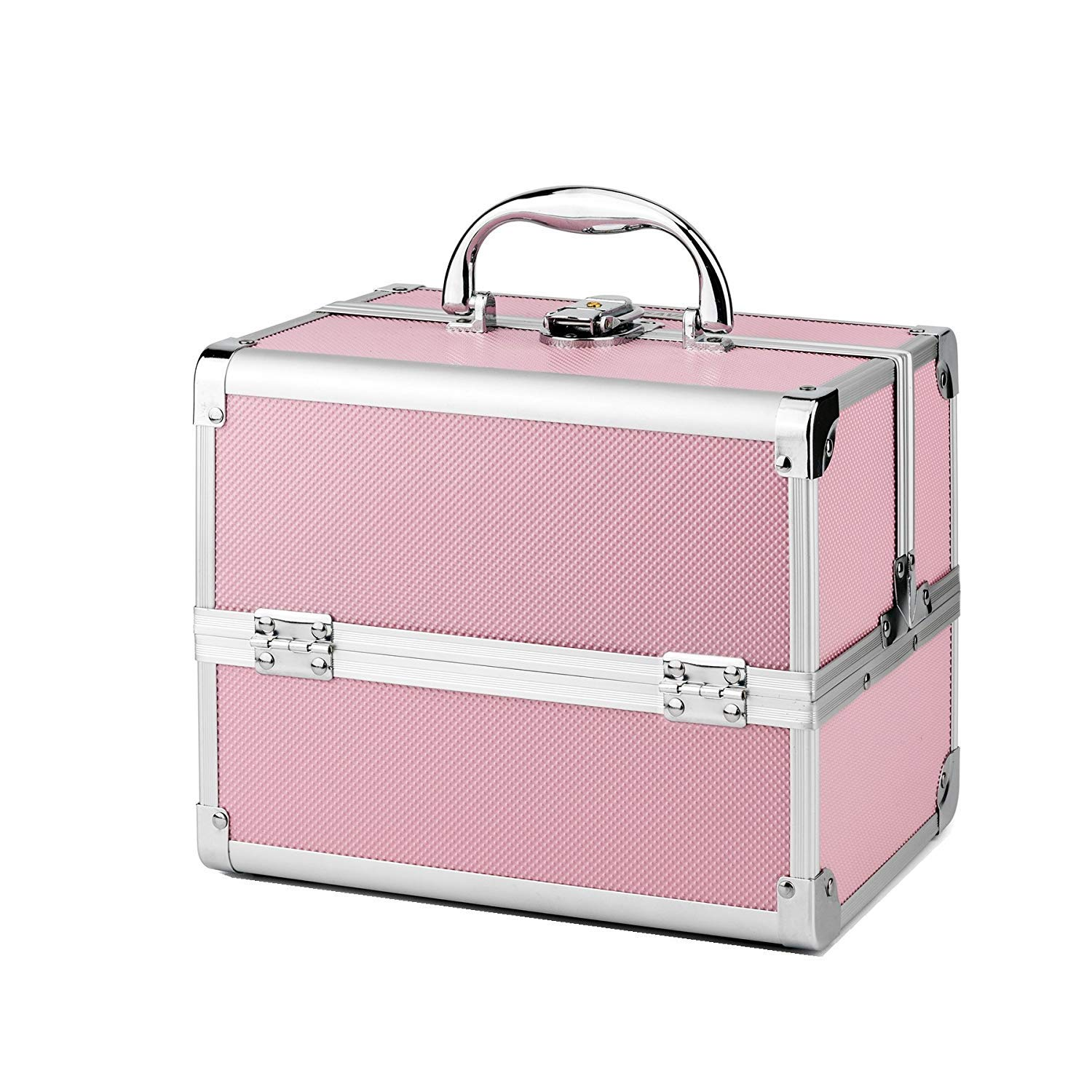 d2a661bb9e9c8e AMASAVA Makeup Case, 3 Tiers Vanity Case Makeup Box with Mirror  Professional Makeup Train Case Storage Beauty Box Cosmetic Case Jewelry  Organiser: ...
