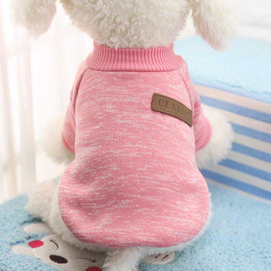 Idepet - Ropa para mascotas: jersey de forro polar para perros y gatos, L, Rosa