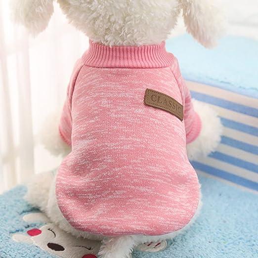 Idepet - Ropa para mascotas: jersey de forro polar para perros y gatos, S, Rosa: Amazon.es: Productos para mascotas
