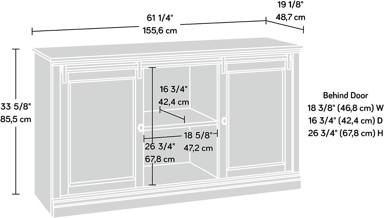 White Plank for TVs up to 60 Sauder Barrister Lane Credenza