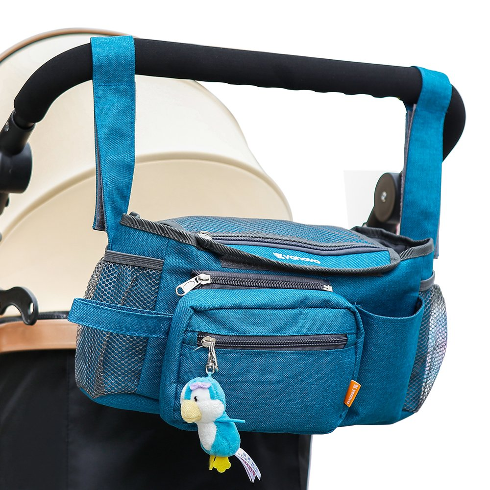 YONOVO Baby Stroller Storage Bag Diaper Tote Organizer with Detachable Strap for Outing Necessities (Ink-blue) by Yonovo