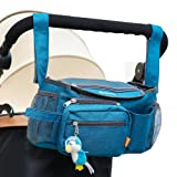 Amazon Price History for:YONOVO Baby Stroller Storage Bag Diaper Tote Organizer with Detachable Strap for Outing Necessities (Ink-blue)