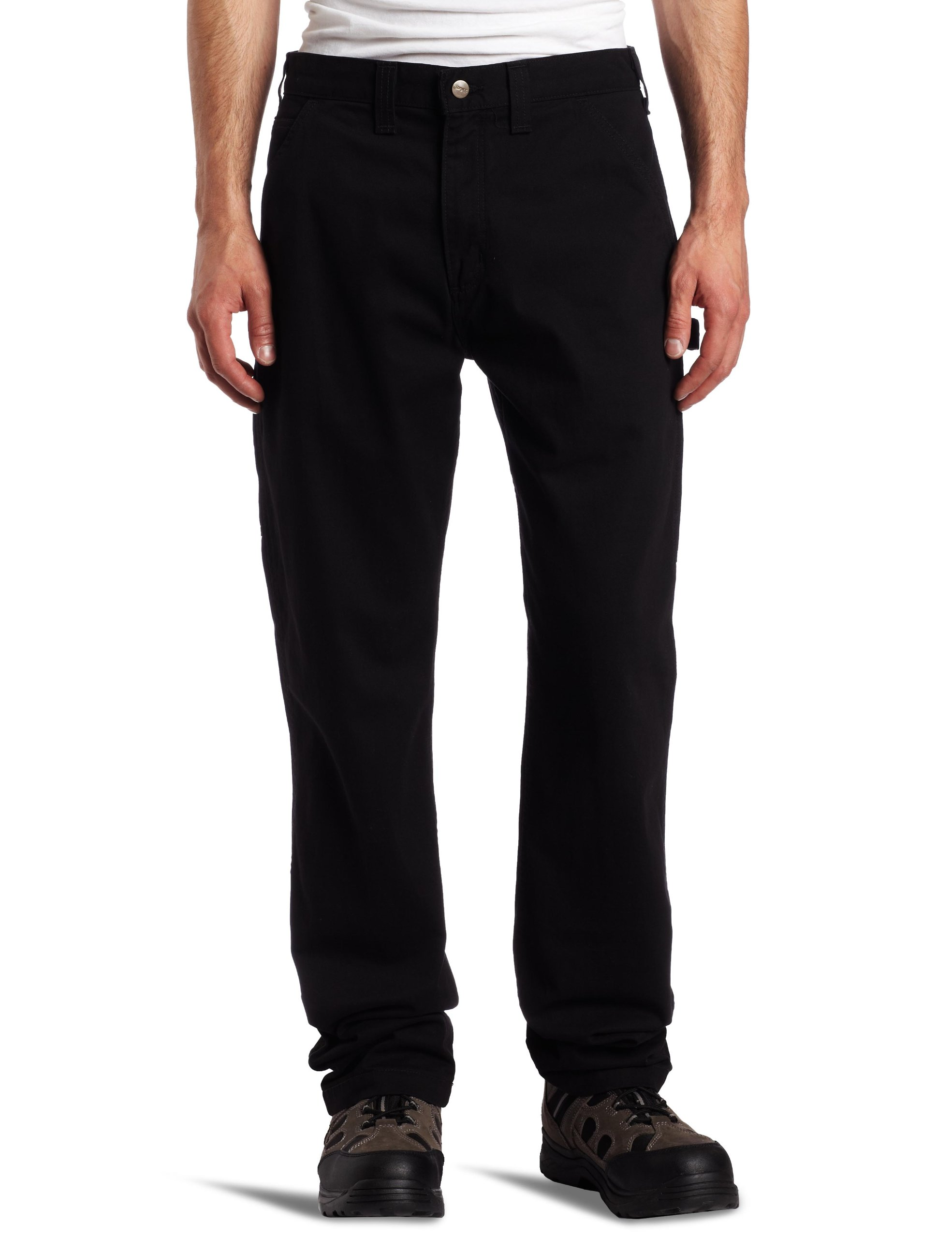 Carhartt Men's Washed Twill Dungaree Relaxed Fit,Black,42 x 32