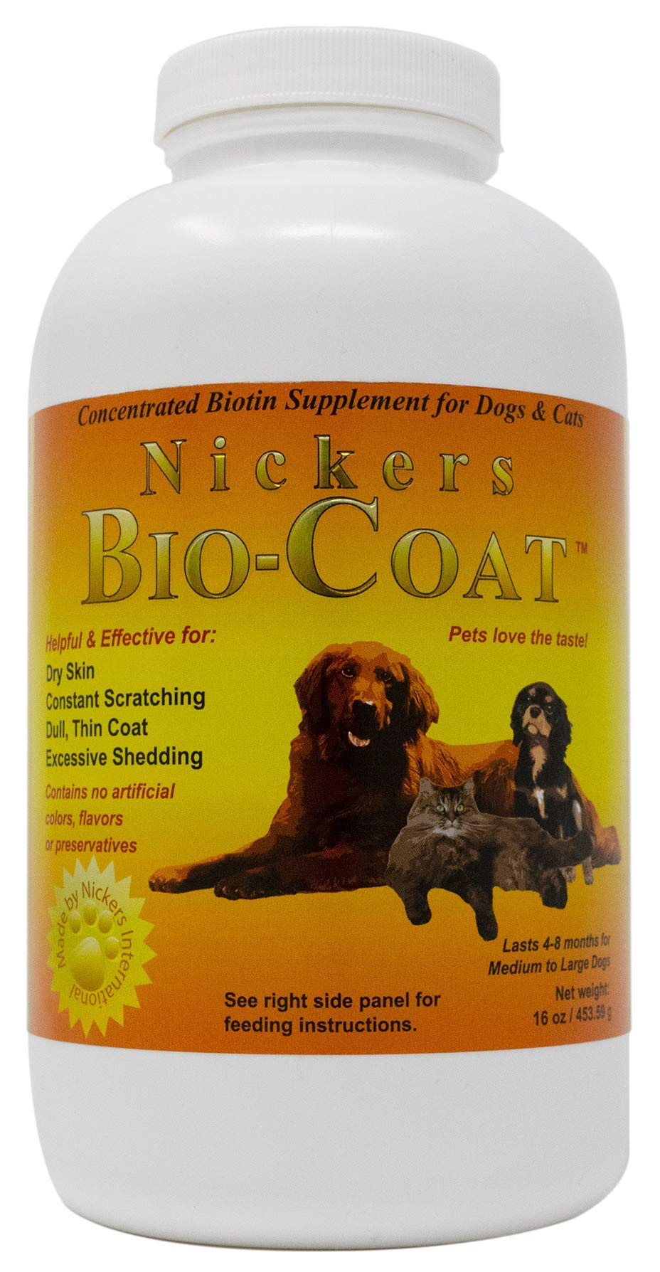 Bio Coat Concentrated Biotin Supplement - 16 oz by Nickers
