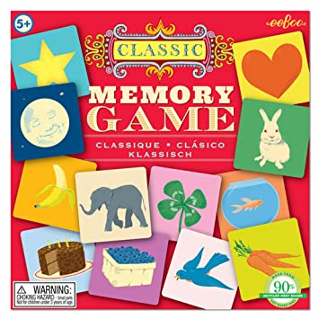 amazon com eeboo classic memory matching game toys games