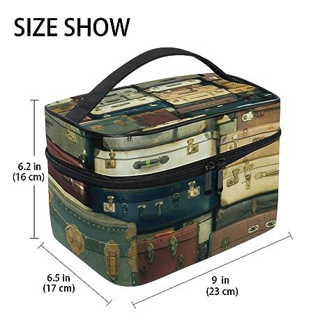 TIZORAX Old Vintage maletas grandes cosméticos bolsa de ...