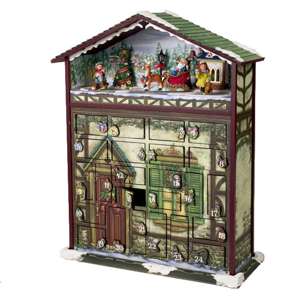 Kurt S. Adler Battery Operated  Musical 24 Days of Christmas Advent Calendar