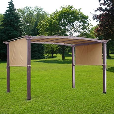 205x 78 Inches Pergola Fabric Canopy Replacement Shade Cover Tan w/  200g/sqm Waterproof - Amazon.com : 205x 78 Inches Pergola Fabric Canopy Replacement Shade