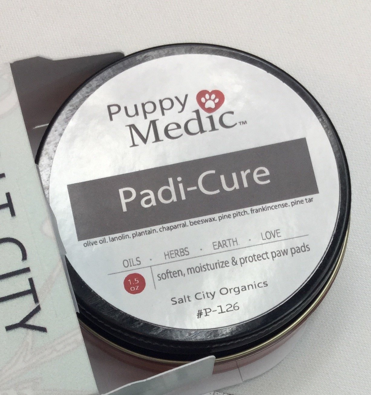 Padi-Cure Organic, Dog Paw Pain Relief & Treatment Balm - Effective for Calloused, Worn, Cracked Paws - Promotes Healing, Moisturizes, Soothes Aged, Bleeding Paws & Skin - Protects Natures Way - 1.5oz