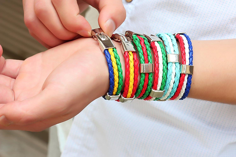Bosnia Dynamia Mens//Womens National Logo Anti-Rust Alloy Leather Bracelet and Braided Bracelet Bangles can Adjust 8.33