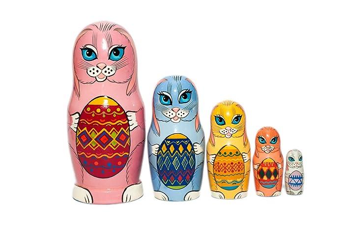 Amazon easter bunnies nesting dolls nesting dolls for kids easter bunnies nesting dolls nesting dolls for kids easter gift russian nesting doll negle Images