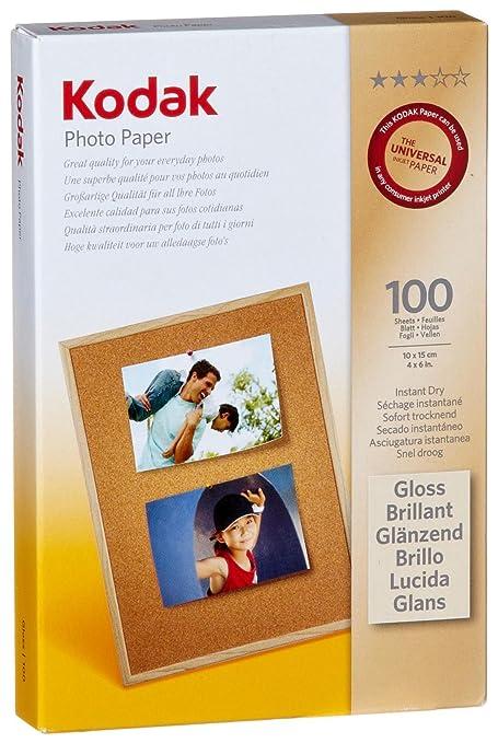 Kodak - Papel fotográfico (10 x 15 cm, (6 x 4