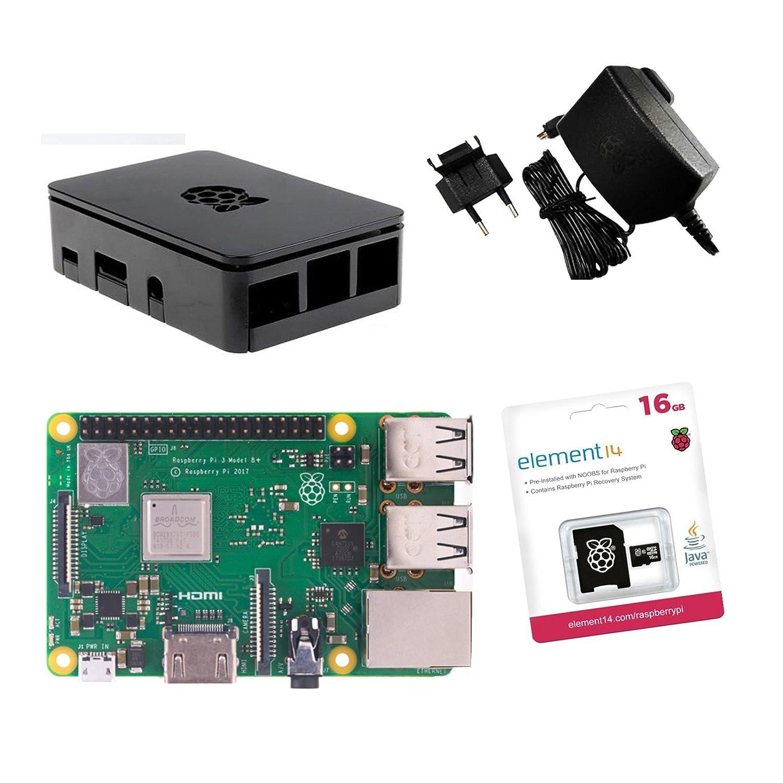 Raspberry Pi 3 Model B + original oficial Starter Kit Negro ...