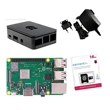 Raspberry Pi 3 Model B + original oficial Starter Kit Negro ...