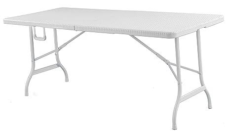 Tavolo Pieghevole Bianco : Royalcraft pal palermo effetto rattan m tavolo pieghevole