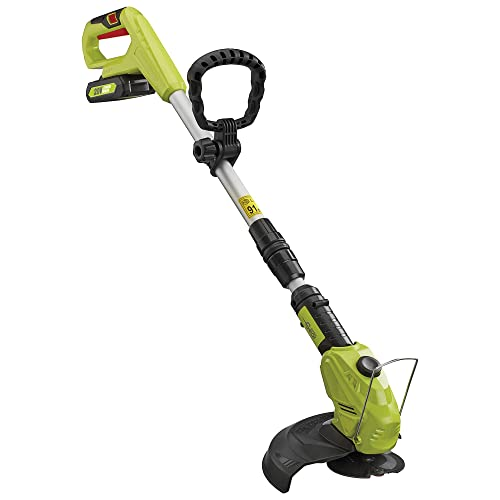 Garden Gear Cordless Strimmer Telescopic Lightweight Frame Grass Trimmer with Adjustable Angle Head and 20V Battery (Grass Trimmer)