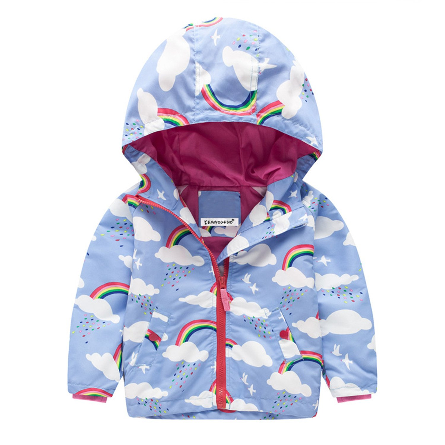 Beautymade Kids Windbreaker Girls Jackets Coat Girls Boys Coats Toddler Children Boys Outerwear 2-7T Blue 4