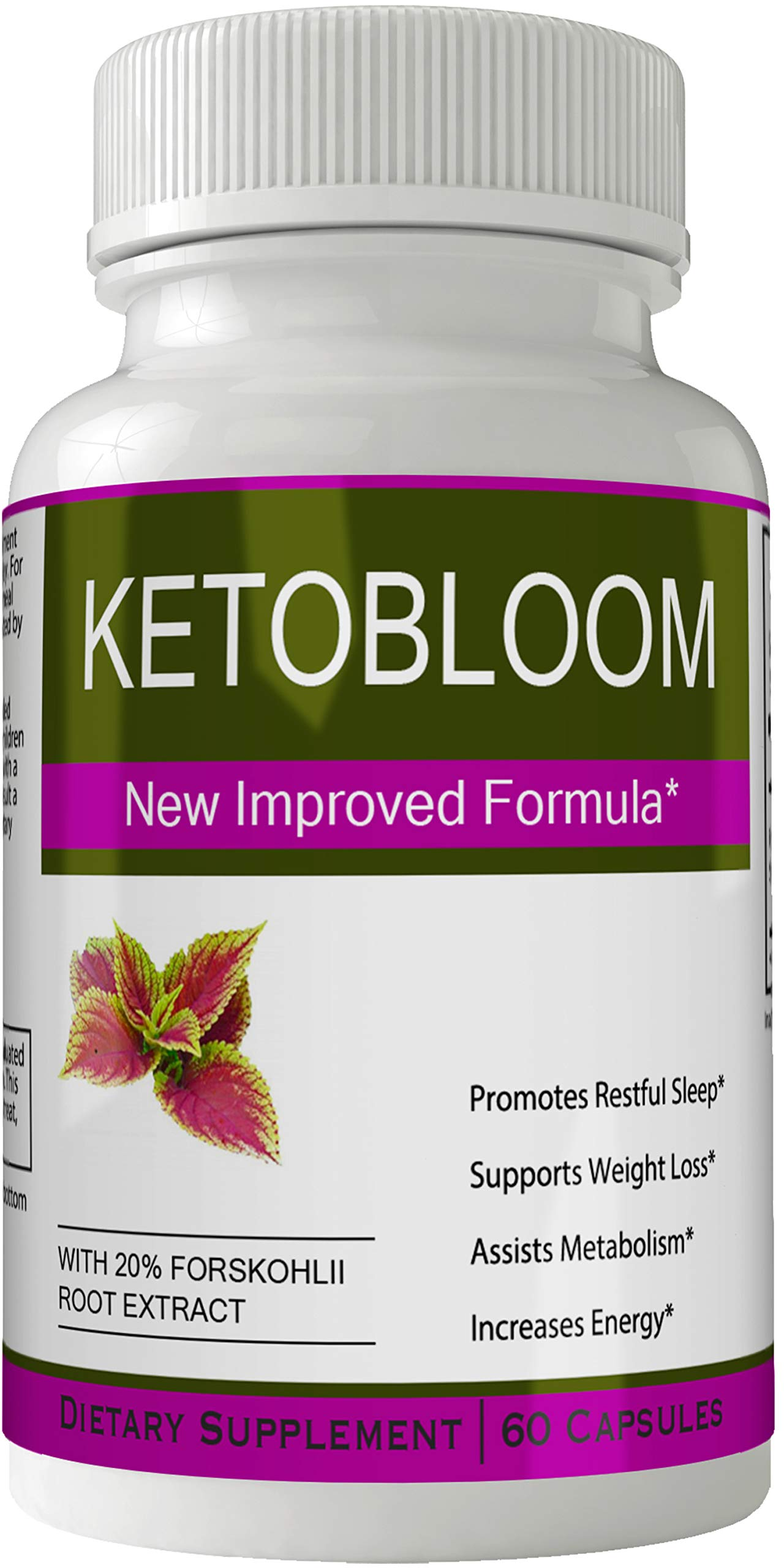 Ketobloom Forskolin for Weight Loss Diet Pills Supplement Capsules with Premium Forskolin Extract Tablets | Keto Bloom High Quality Natural Weightloss